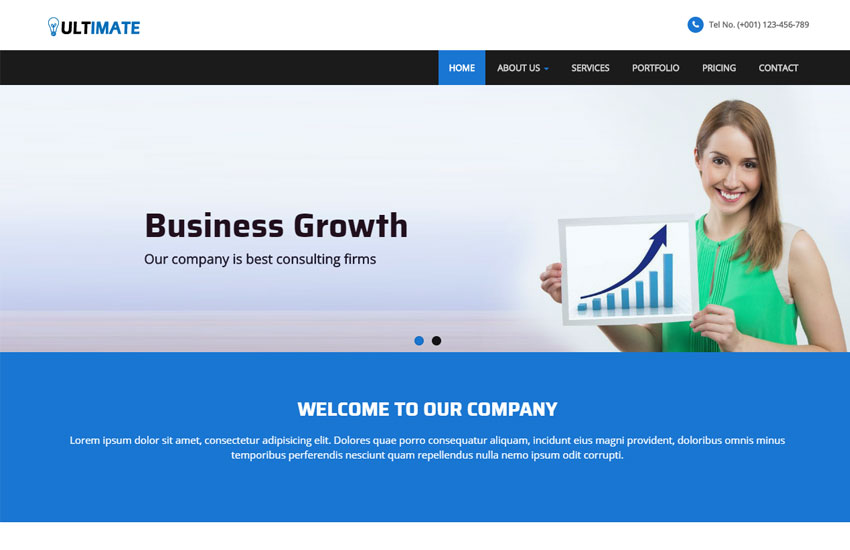 50 best free html5 templates for corporate business ultimate business responsive html web template friedricerecipe Image collections