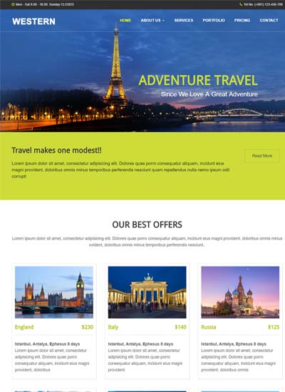 Travel Agency HTML Responsive Web Template
