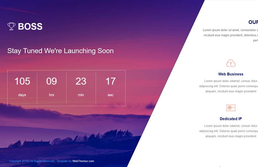 Coming-soon-html5-website-template