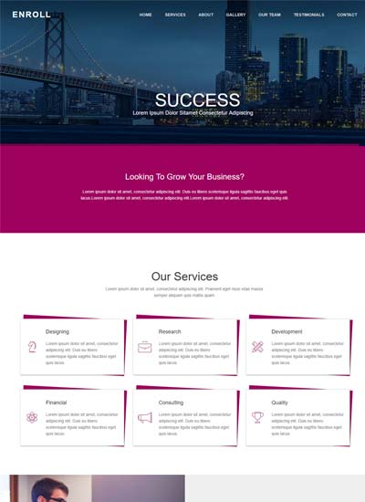 One Page Websites Using HTML CSS Free Download - Simple website templates free download html with css