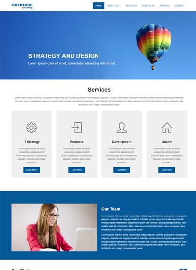 overtake business bootstrap html website template download