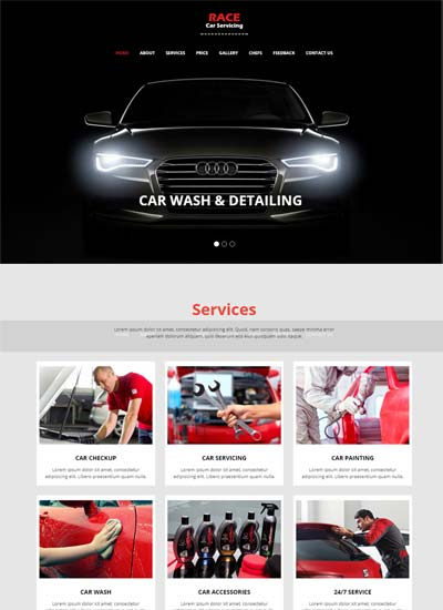 Latest car wash templates with bootstrap html free download race car wash website bootstrap html template download maxwellsz