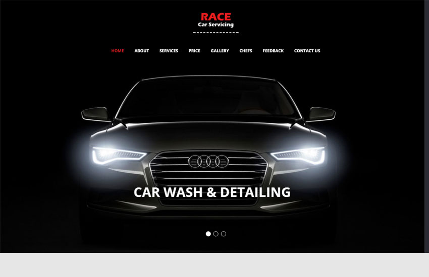 popular car wash website template