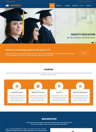Education Website Template Free