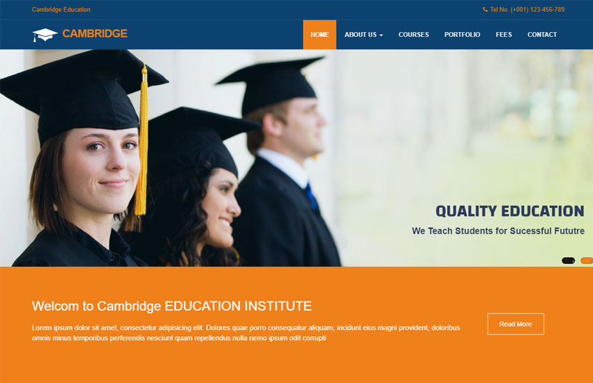 education-website-template-free