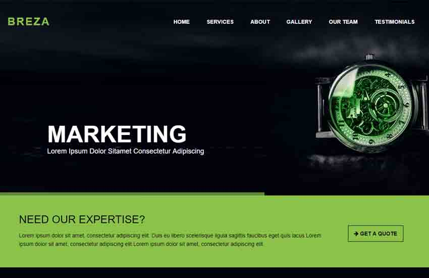 breza best corporate website free html5 template