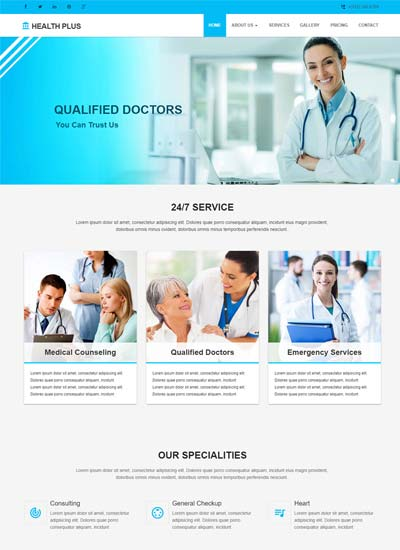 medical hospital website templates free download