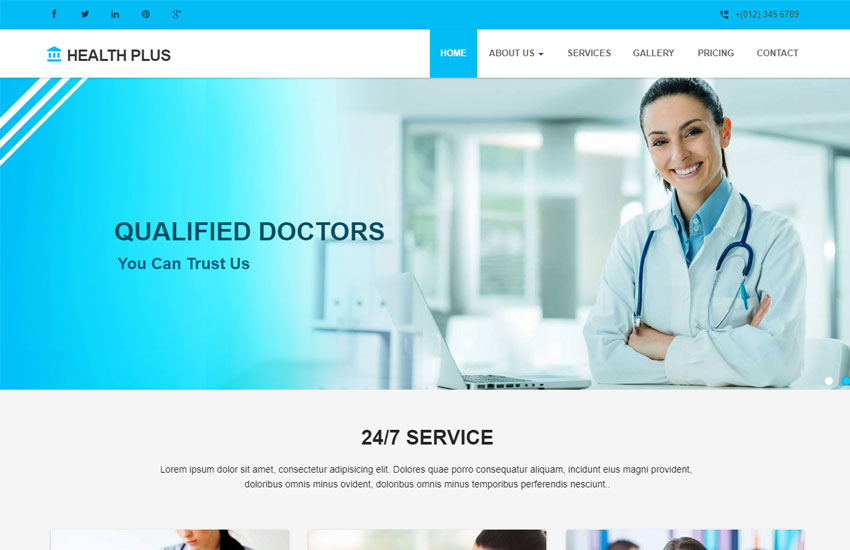 Latest Free Medical Clinic Website Template - WebThemez