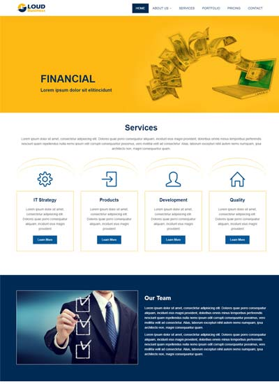 Best corporate business website templates free download loud business html5 bootstrap responsive website template accmission Images
