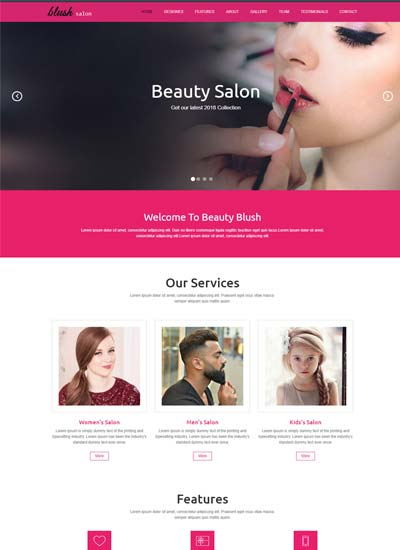 Beauty salon responsive website template free download maxwellsz