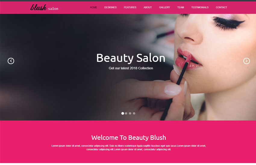 Beauty Salon Responsive Website Template Free Download