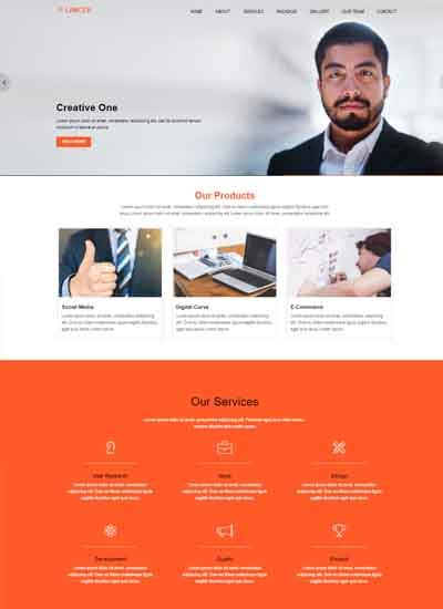 lancer business simple bootstrap template download