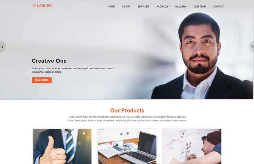 Lancer Business Simple Bootstrap Template - WebThemez