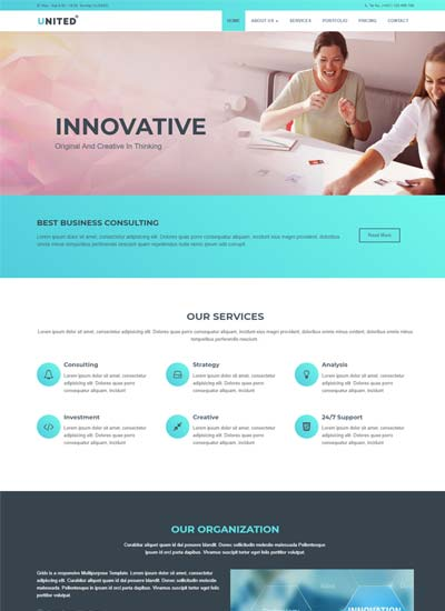 Responsive website templates free download with html css united business html website template wajeb