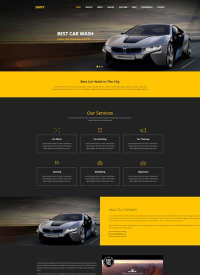 Free Website Templates And Bootstrap Themes WebThemez - Cool car websites