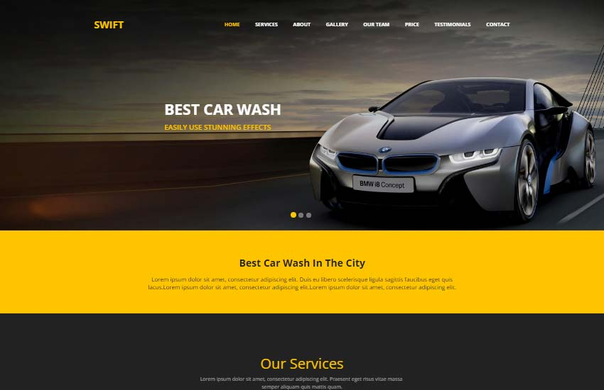 Car wash html website template free webthemez car wash html website maxwellsz