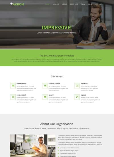 akron multipurpose bootstrap website template