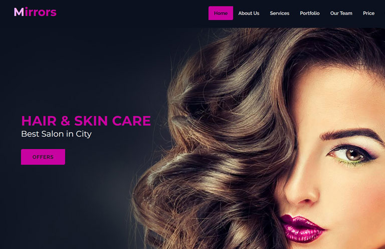 Beauty Parlour Website
