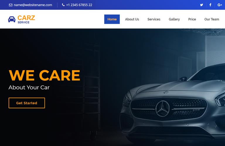 Car Service Bootstrap 4 Website