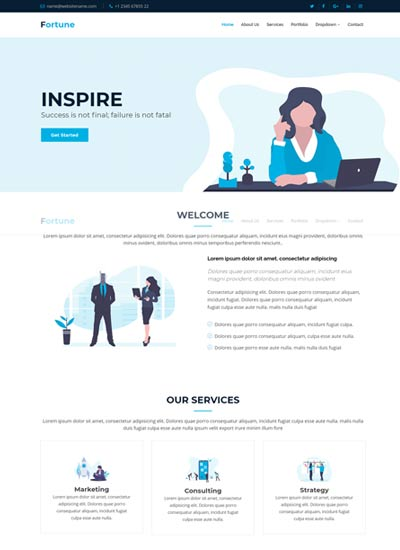 Best Corporate Business Website Templates Free Download 2019