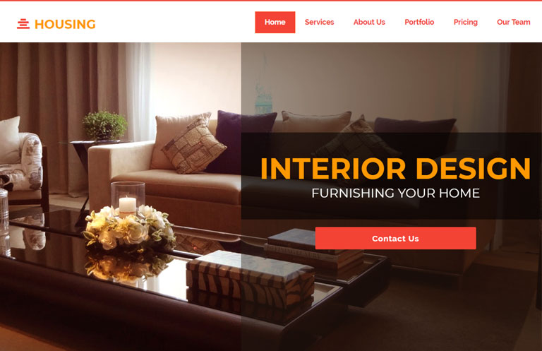 Interior Design Bootstrap Template