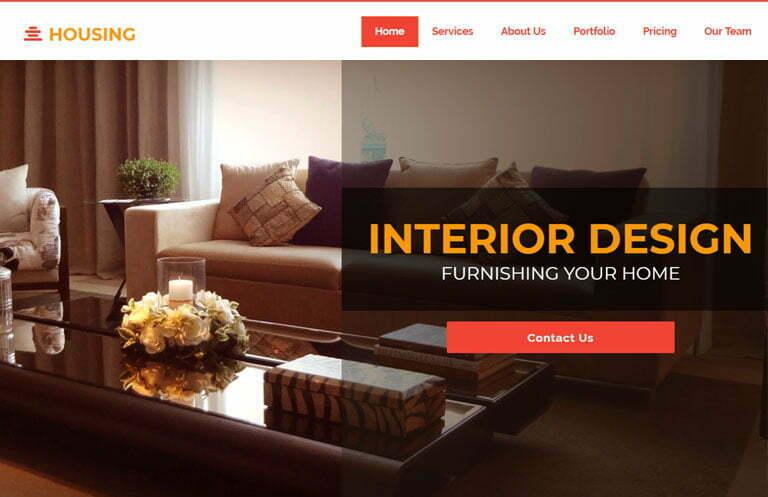 Interior Design Bootstrap Template