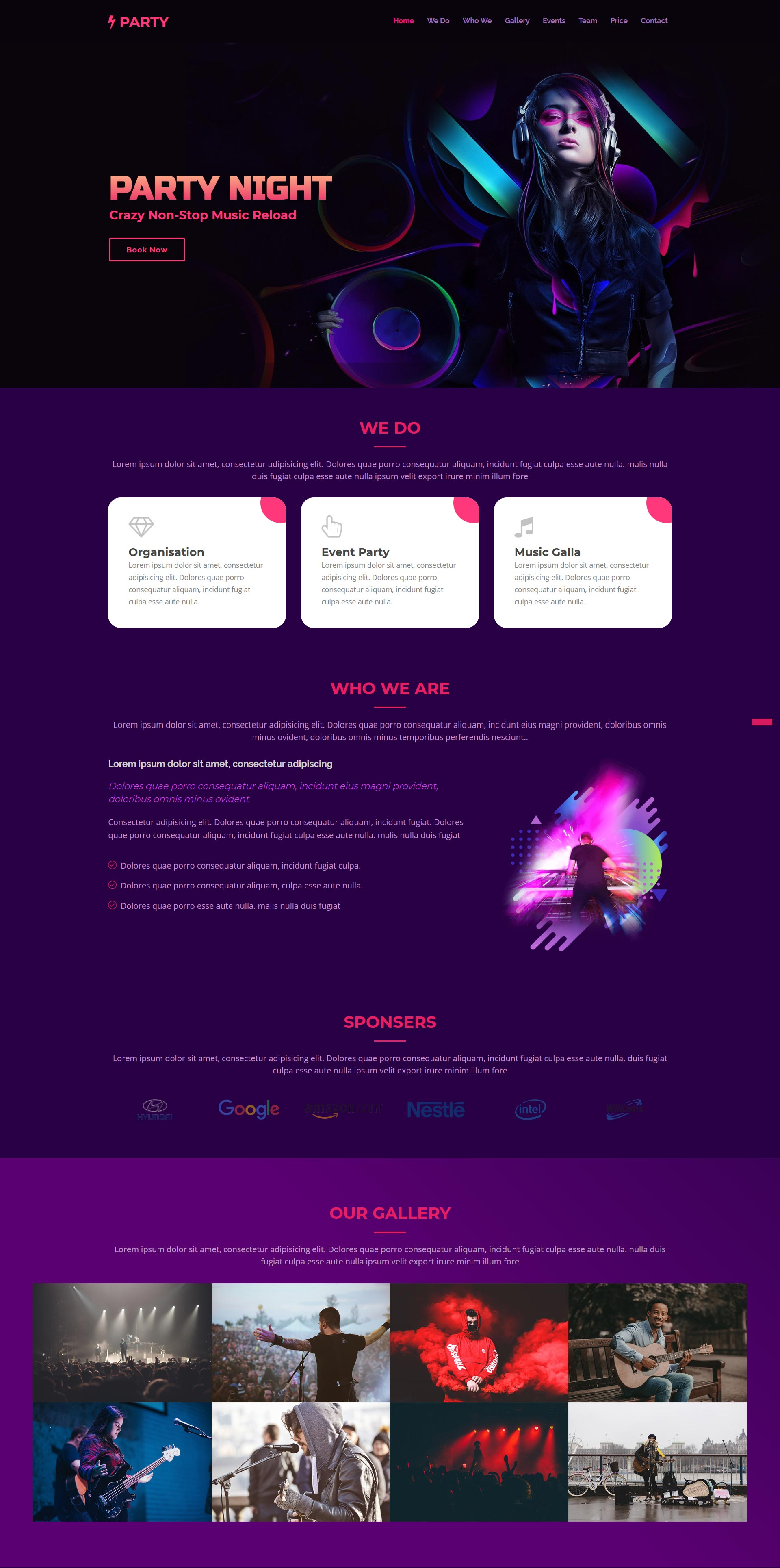 Event Free HTML Website