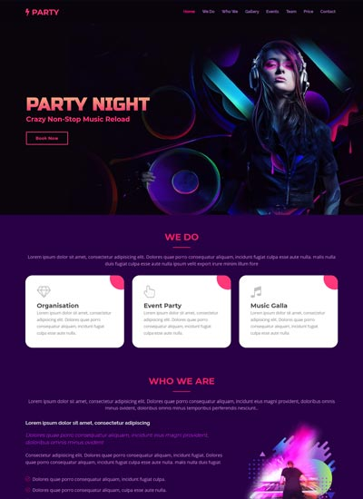 event-free-html-website