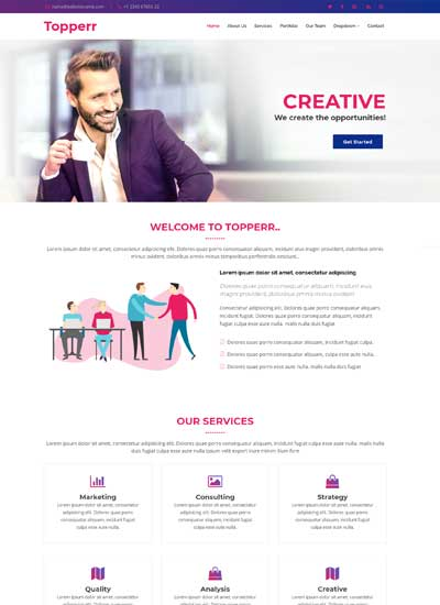 bootstrap-4-free-website-template