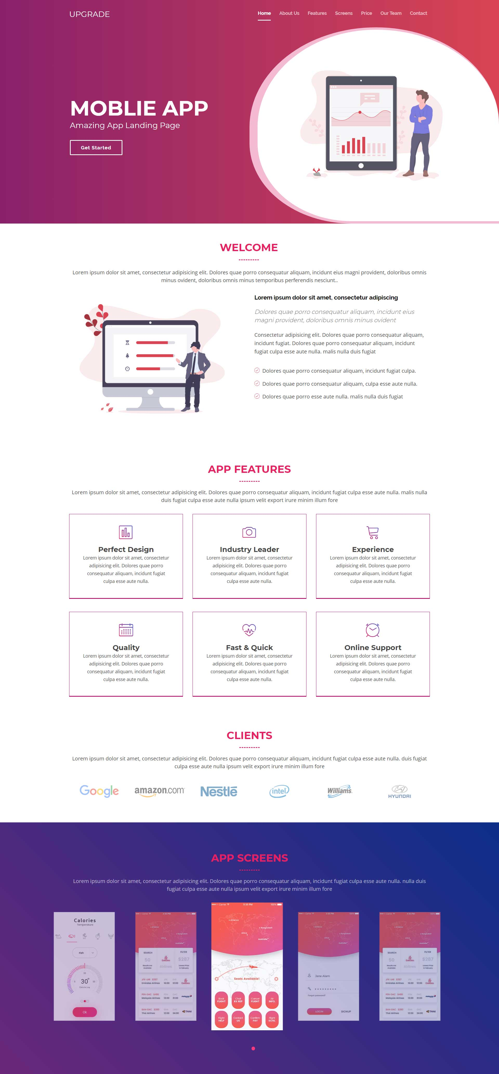 Bootstrap App Landing Page