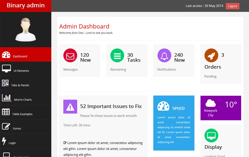 50+ Best Free Bootstrap Admin Templates 2019 - WebThemez