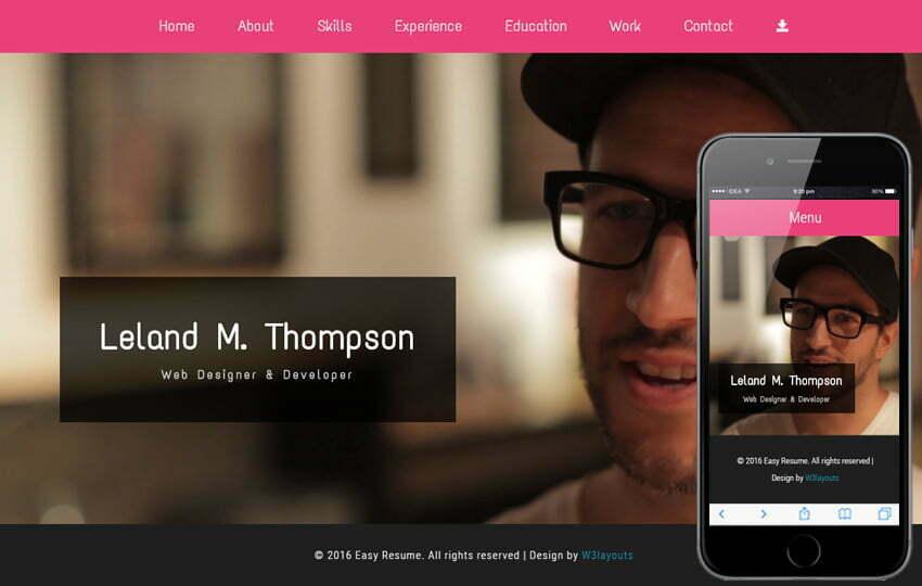 24 Free Bootstrap Html Resume Website Templates 2020 Webthemez