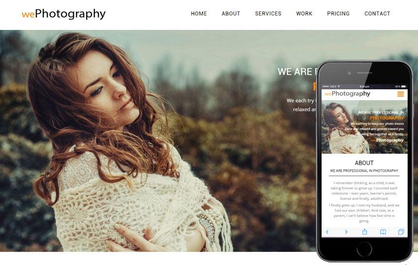 38 Latest Free Photography Website Templates 2020 Webthemez