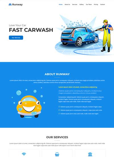 car wash bootstrap template