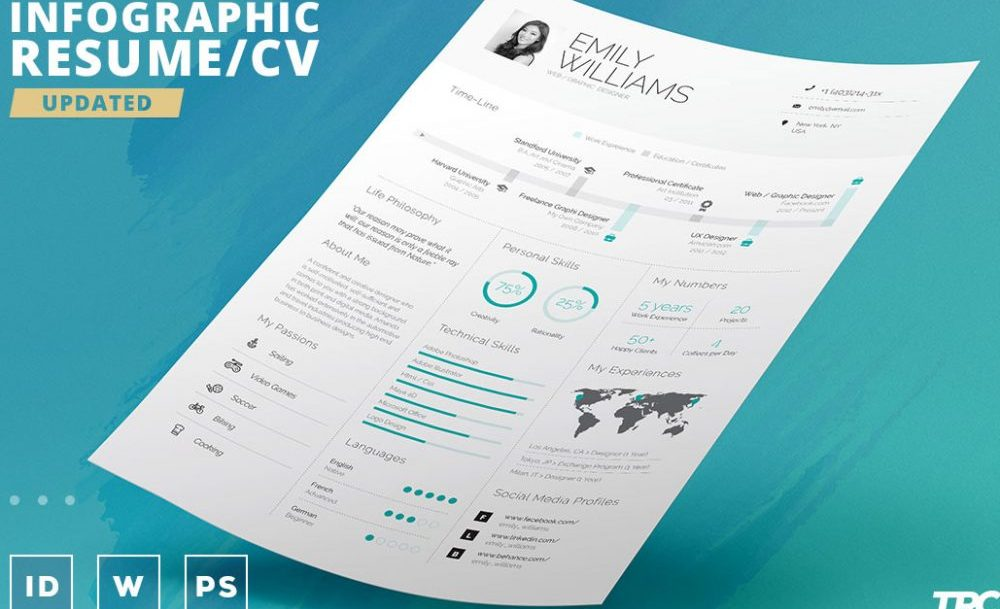 Infographic Word Resume Template