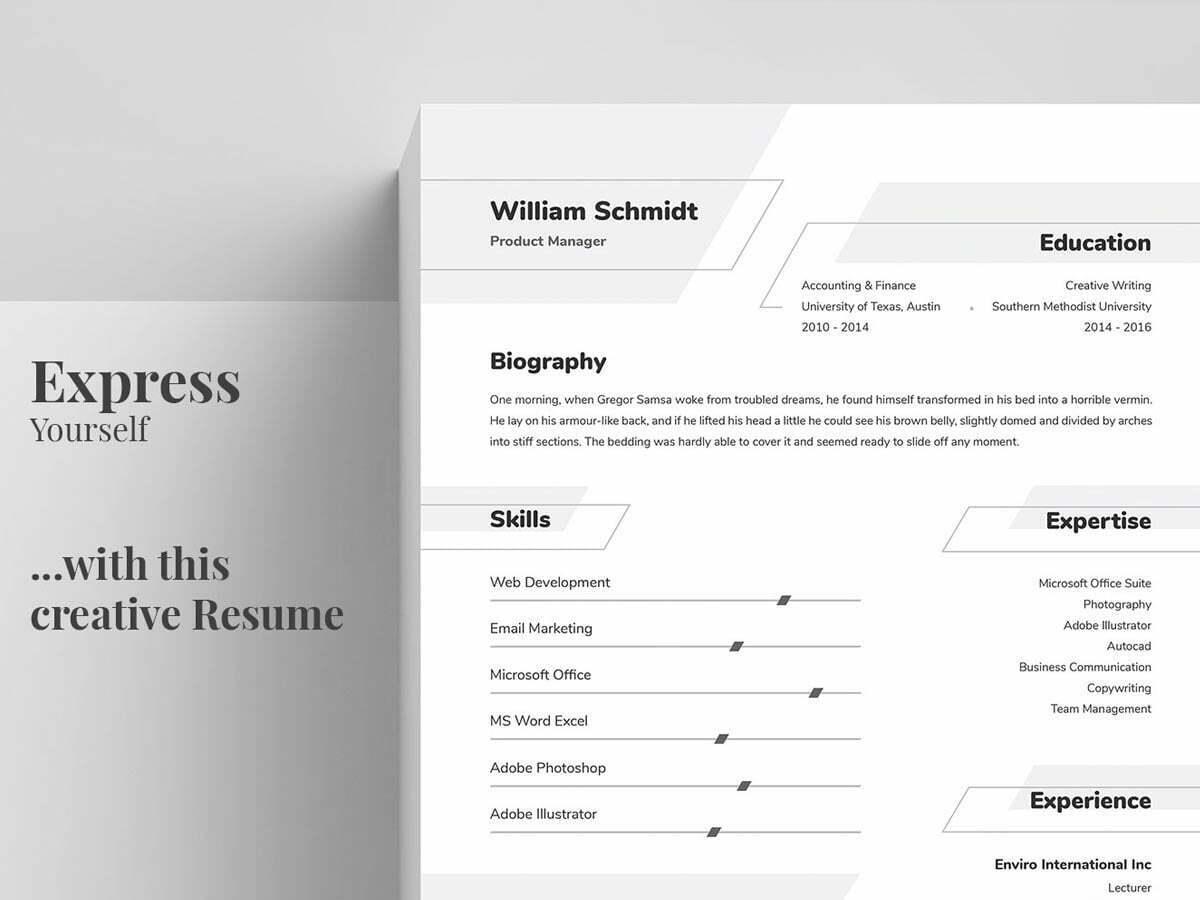 65 Best Free Ms Word Resume Templates 2019 Webthemez