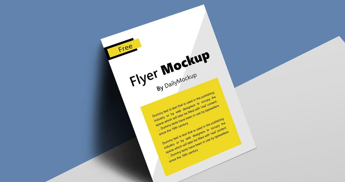 free flyer mockup
