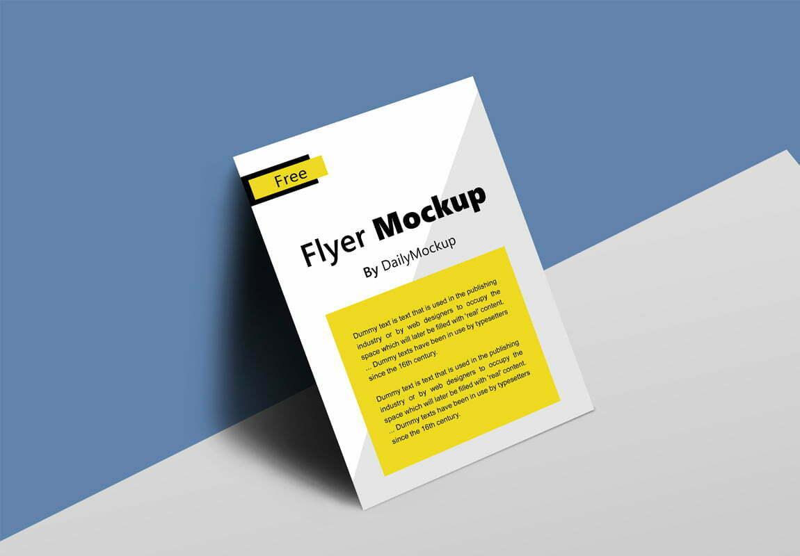 28 Best Flyer Mockup Psd Templates For Free Download Webthemez