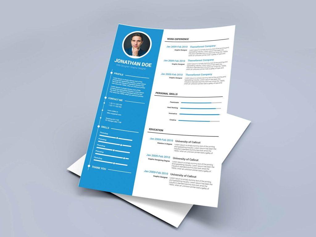 65 Best Free MS Word Resume Templates 2020 - WebThemez