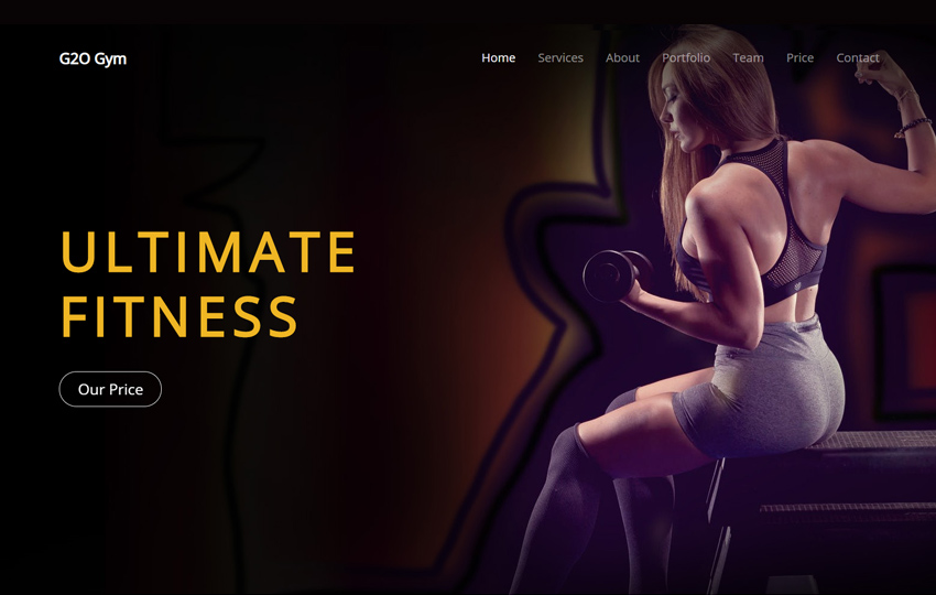 Fitness Bootstrap Theme