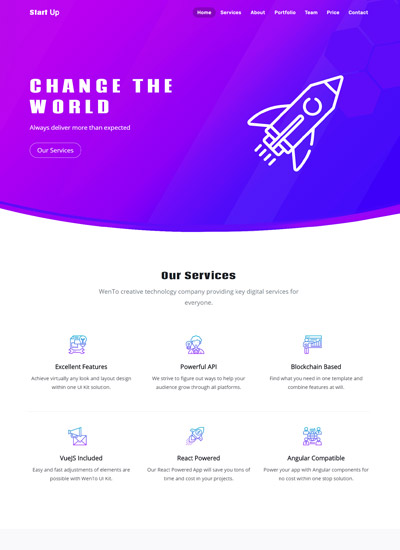 Startup Bootstrap Template