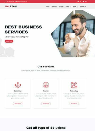 265 Latest Free Consulting Website Templates 2020 Webthemez