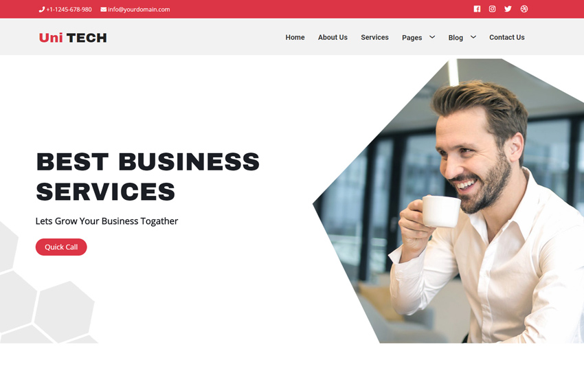 Business Bootstrap Website