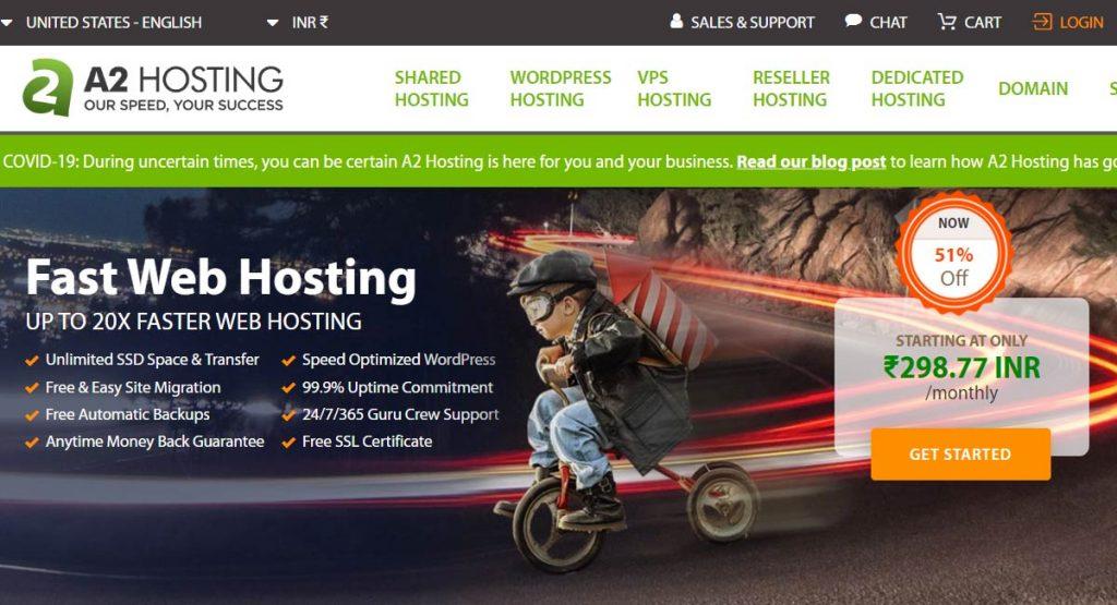 a2hosting hosting offer
