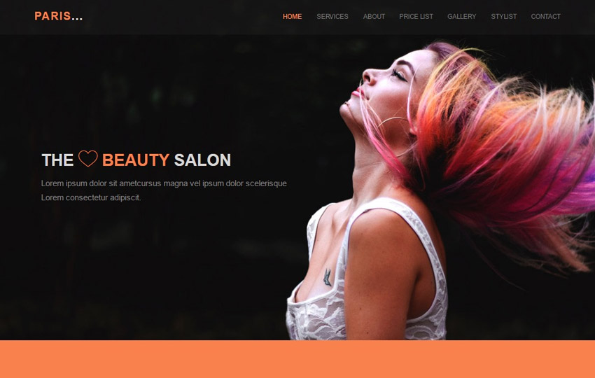 Hair Salon Responsive HTML Template